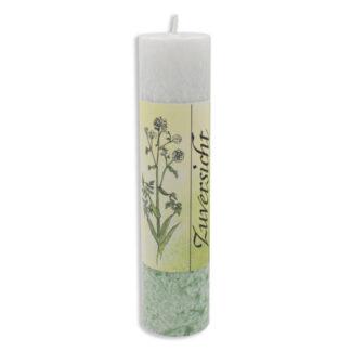Kerze Stearin grün-weiss