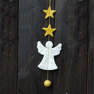 Girlande Engel Sterne