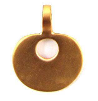 Goldanhänger rund