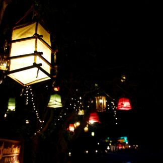 Lampions in der Nacht